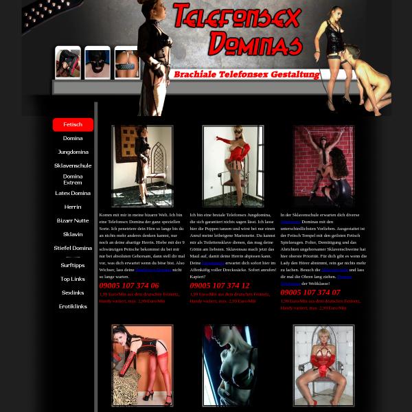 Domina Telefonsex - Brachiale Telefonsex Gestaltung