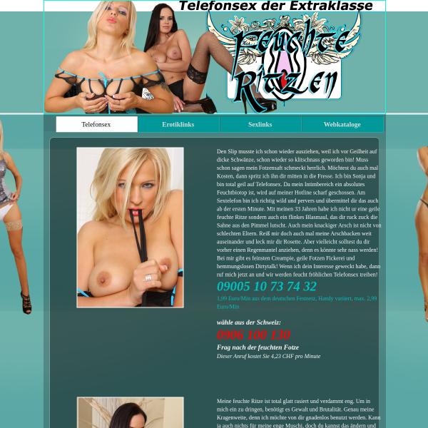 Telefonsex mit feuchten Ritzen