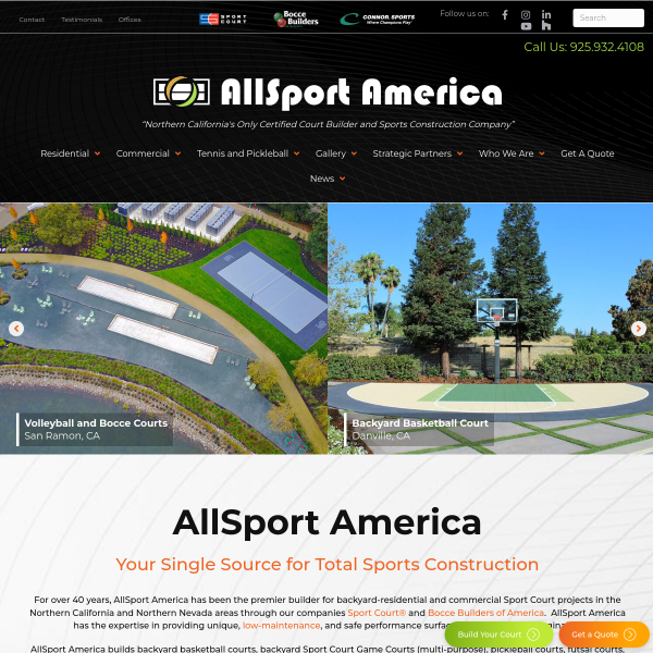 Read more about: Northern California Sport Court Builder & Athletic Flooring | AllSport America