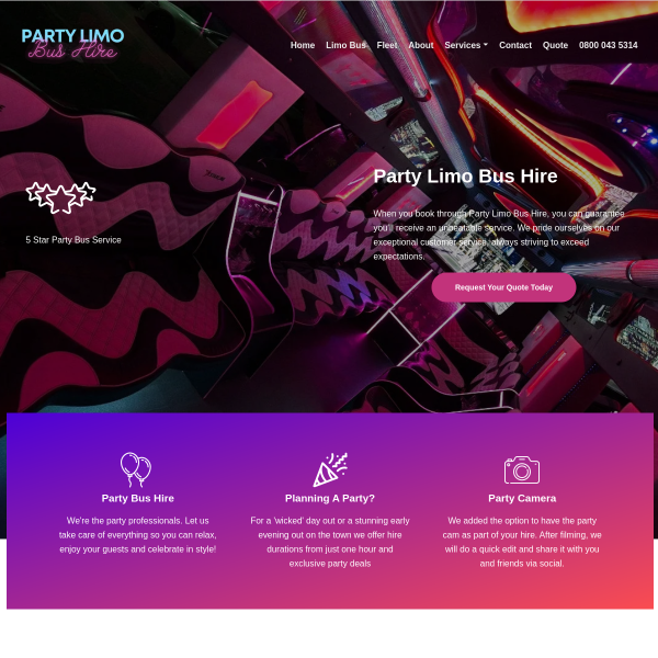 Read more about: Party Bus Hire Birmingham