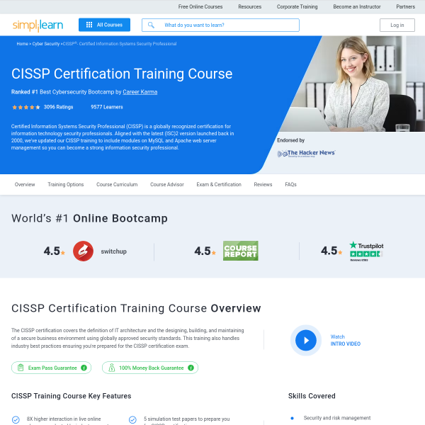 Read more about: CISSP Certification Training