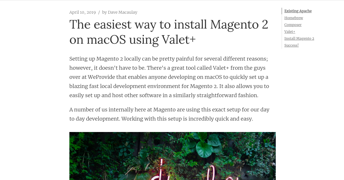 The easiest way to install Magento 2 on macOS using Valet+