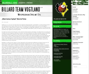 Media Adviser Billard Team Vogtlande e.V.