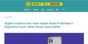 Apple crushes one-man repair shop in Norway's Supreme Court, after three-year battle