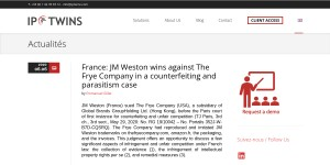 France: JM Weston wins against The Frye Company in a counterfeiting and parasitism case