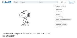 Trademark Dispute – SNOOPY vs. SNOOPY COUNSELOR
