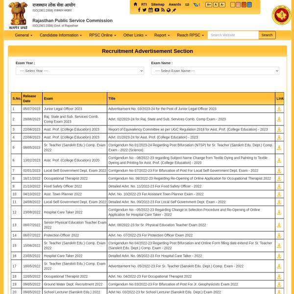 RPSC.RAJASTHAN.GOV.IN | YOGA AND PRAKRITIK CHIKITSA ADHIKARI VACANCY RECRUITMENT BY RPSC 2020 #EDUCRATSWEB