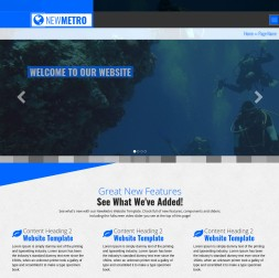 NewMetro Scuba-diving Website Template