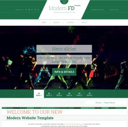 Modern Dance Website Template