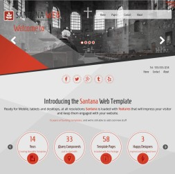 Santana Religion Website Template
