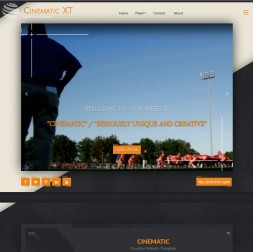 Cinematic Football Website Template