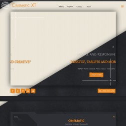 Cinematic Hockey Website Template