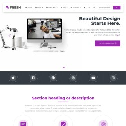 Fresh Business Website Template