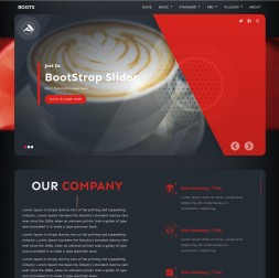 Roots Cafe Website Template