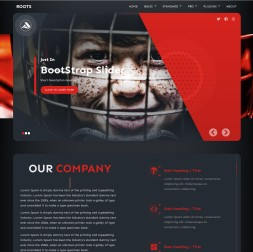 Roots Hockey Website Template