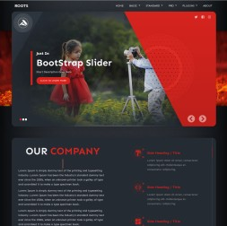 Roots Photography Website Template