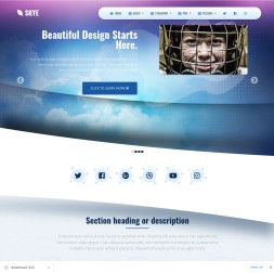 Skye Hockey Website Template