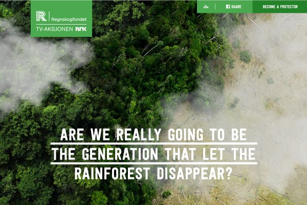 Campaign-Site: Saving Rainforest