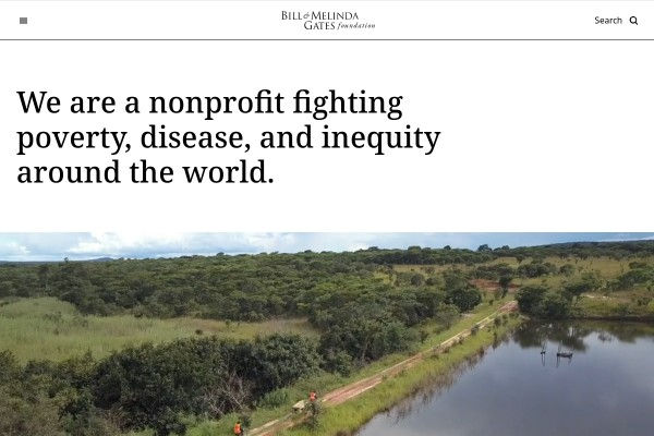 Website of Gates Foundation