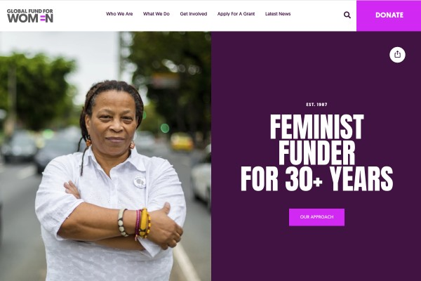 Website of Global Fund for Women
