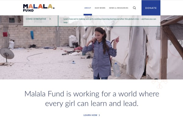 Website of Malala Fund