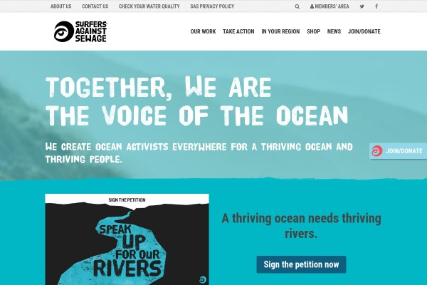Campaign-Site for Message in a bottle
