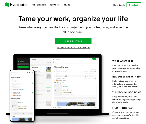 evernote.com SEO Raporu