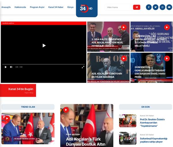 kanal34.tv kuvakaappaus