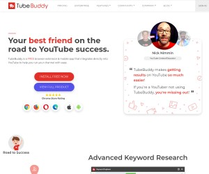 TubeBuddy is Your best friend on the road to YouTube success!