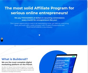 Builderall Opened Affiliate Program For All, Become An Affiliate Today!
