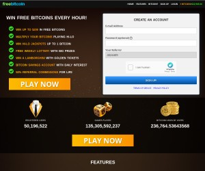 WIN up to $200 in BITCOINS for Free Every Hour
