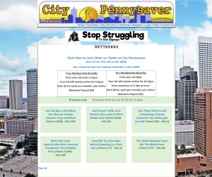 Own the ONLY CityPennysaver.com for the CITY of YOUR CHOICE