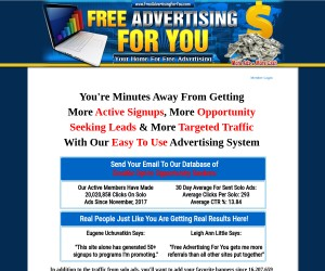 Highly recommended viral advertising system!
