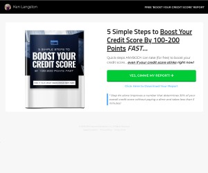 5 Steps to Boost Your Credit Score 100 - 200 Points [PDF Report]