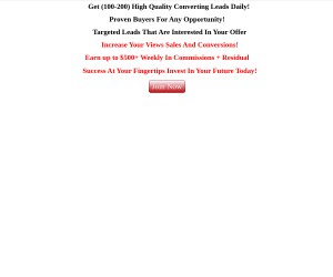 Get 100-200 High Quality Converting Leads Daily!