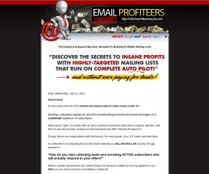 INSANE Email List Profits On Complete AUTO-PILOT And Don't Pay!