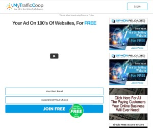 It's a new 100% FREE website that sends you both traffic AND income!