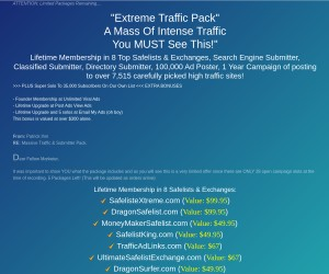 [eXtreme Traffic Package] Get a Mass of INTENSE Traffic for Whatever you Are Selling!