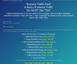 [Extreme Super Solos] Get a Mass of INTENSE Traffic for Whatever You Are Selling!