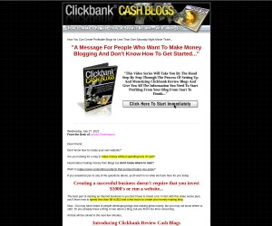 ClickBank Cash Blogs (Value: $12.97)