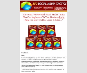 Social Media Tactics: Twitter, Youtube, Squidoo, Yahoo, StumbleUpon, Digg, LinkedIn