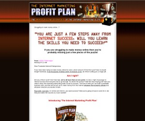 Introducing 'The Internet Marketing Profit Plan'