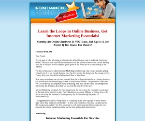 INTERNET MARKETING ESSENTIALS FOR NEWBIES