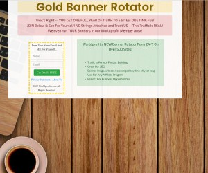 [ GOLD Banner Rotator - Traffic To 5 Sites For ONE Full Year ] Promote Affiliate Links - Change ANYT