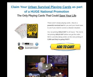 Claim Your Urban Survival Playing Cards
