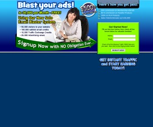 Worldprofit's Solo Email Ad Blaster - Earn Income Online Working From Home