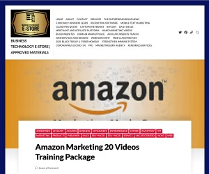 Amazon Marketing 20 Videos Training Package
