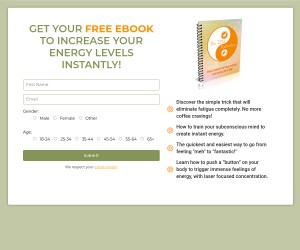 Get Your FREE EBOOK To Increase Your Energy Levels Instantly!