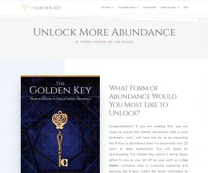 The Golden Key: Modern Alchemy to Unlock Infinite Abundance
