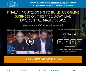 Claim your free spot in Daven & Chad's 3-Day Business Masterclass.. How to Set up Online Business